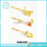 Latest Design 2016 Gold Plated Animals Hair Pin Dog And Cat Girl's Hair Clip