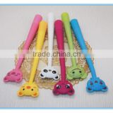 Lovely plastic kids bear pen with customized pen bendable pencil for promotion