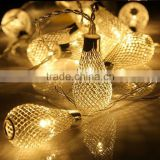 Warm white led drip string light 110v 220v Patio lights led string decorative metal strip for Wedding Party Christmas Bedroom