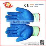 10 gauge polycotton liner latex coated latex gloves
