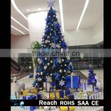 Artificial giant Christmas Tree outdoor christmas decoration PVC material metal stand tree