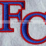 high quality alphabet letter FC design iron on basketball jersey design embroidery patches,appliques for basketball jersey