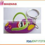 New Custom soft PVC Rubber Keychain/ Custom Soft PVC 2D Keychain/ Custom Key Chain factory