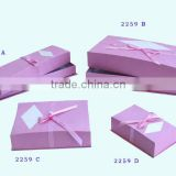 Hot sale custom simple kraft paper jewelry box/ kraft brown square cardboard jewellery boxes for jewellery