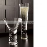 Wholesale Handmade Soda-lime Crystal Heavy stem Martini Glass for Party