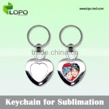 Sublimation Blank customized logo metal keychains, new 2016 metal blank sublimation keychain for promotion gifts