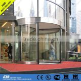 Automatic revolving door, security glass, stainless steel surface