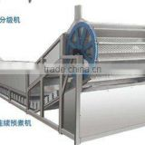 Fully automatic vegetable&fruit net bet type continuous blanching machine/mushroom bucket type blanching machine