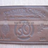 Customized embossed fake leather patch or imitation leather for jeans, men jackets and apparel