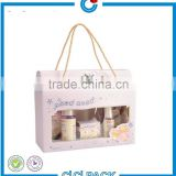 High quality gift box with clear window for baby skin care product packaging