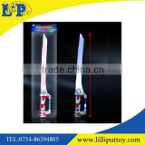 63.5CM plastic colorful light up flashing sword toy with sound for promotional gift