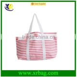 Environmentally friendly cotton canvas shopping bags travel bags large-capacity shoulder handbag red fringe