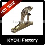 INquiry about KYOK wrought iron material strong 16mm curtain rod brackets,0.5/0.6mm stainless steel/iron double curtain rod bracket