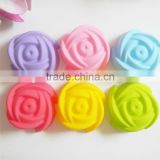 Rose shaped Silicone Muffin cake cup Cake Baking Mold Chocolate Jelly Maker Mould