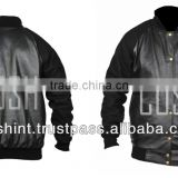 Black leather Track Jackets , leather Suits , Track Suits In Leather , Supplier Of Leather Track Suit