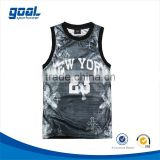 2015 Most popular breathable fashionable european sublimation grey basketball jersey                                                                         Quality Choice