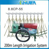 200m Small Mobile used farm sprinkler Irrigation Equipment