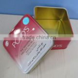 Silver inside material 0.23mm tinplate tin can manufacturer soap tin can