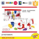 Mini Qute Kitchen Play Set Kitchen toys set for kid Juice mixer Iron Coffeemaker Vacuum cleaner Microwave oven Washing machine