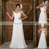 2012 Factory Made really design Cap-Sleeve sweetheart neck wedding dress XYY04-132