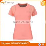 Factory Wholesale Bamboo Fiber Running Fitness Sports Dry Fit Breathable Lady Short Sleeve T Shirt