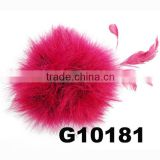 fancy marabou feather puff on hair clip
