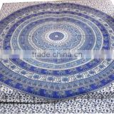 RTBS-3 Mandala Work Traditional Indian Elephant Printed Double Bedsheet Printed Cotton Home Decorative Bed Spread
