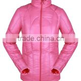 2016 New Outdoor Waterproof Windproof Fabric+down Lining Warmth Woman Winter Jackets 100%Polyester woman clothing