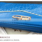 Hot patent leather women purse,fashion wallet high quality handbag direct factory