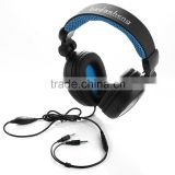 Super Bass stereo tablet headset Gaming PC gaming headphone for PS4/Xbox one with removable mic foldable headband