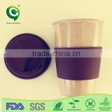 Christmas gift sustainable biodegradable coffee cup and saucer