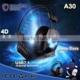 Good Quality SADES A30 Vibration Function and 7.1 Surround Sound Professional Gaming Headphones Games Headphone for Razer Gamer