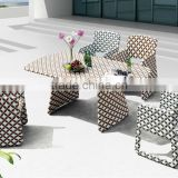 Novia Garden 6 Person More Color Rattan Wicker Dining Set Yard PE Rattan Furniture Leisure Restaurant Furniture
