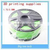 3d printing supplies GREEN color 1.75mm 3mm consumables 3d print PLA three dimensional material 1kg