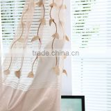 Over 10 years experience embroidery window curtain design embroidered sheer curtain panel
