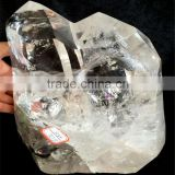Natural clear large white quartz raw crystal wand / quartz prisms