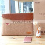 New13 laptop Wooden Cork Ook Sleeve Case For Macbook Leather Bag with Card Slot