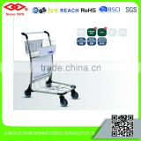 100kg Stainless steel four wheels airport shopping cart
