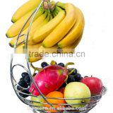 Chrome Fruit Basket With Banana Holder