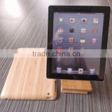 Good quality with stand Bamboo case for Ipad Bamboo laptop case