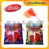 10g Foot Shape Lollipop Magic Popping Candy SK-P321