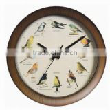 Singing Bird Wall Clock With Plastic Material