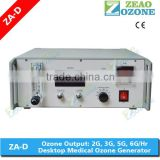 Corona discharge electrical CE ozone gas generator for medical therapy treatment in hospital