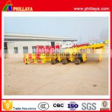 Phillaya low price 2 or 3 Axles 40ft Container Chassis Skeleton 20ft 40 feet flat container semi trailer with container lock
