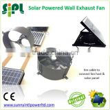 SUNNY FAN Gable Wall Mounted Industrial Solar Ventilation Hot Air Exhaust Fan with Fan Guards Solar Power Wall Ventilator