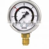 Bourdon Tube Pressure Gauges with Factory-Set Switch Contacts Stainless Steel Case Type PGS21
