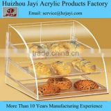 Factory wholesale acrylic bread storage container and bread stand rack