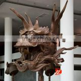Bronze dragon head statue home decor
