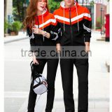 Hot-selling fashionable design gym sports jogging suits couple 80%cotton+20%polyester