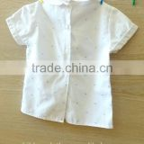 Latest designed new model shirts manufacturers china cute polka dot long sleeve white corduroy t-shirts in bulk
